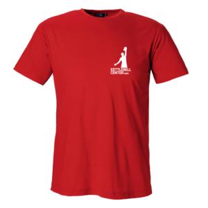 Kettlebell Center Röd bomulls T-shirt