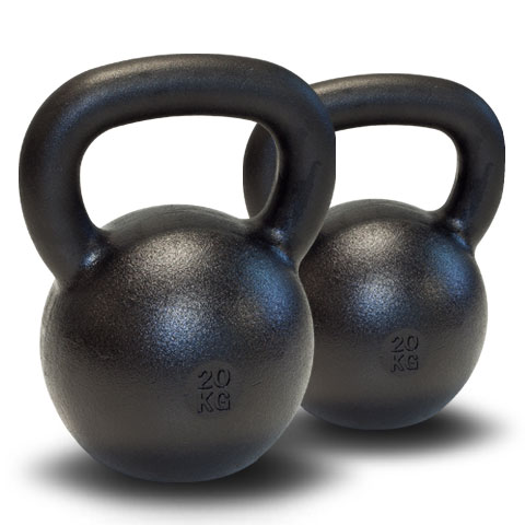 Dubbla Power Kettlebellpaket - 2x20kg + DVD + bok