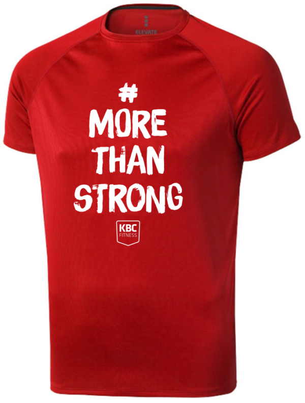 More Than Strong Röd funktions T-shirt